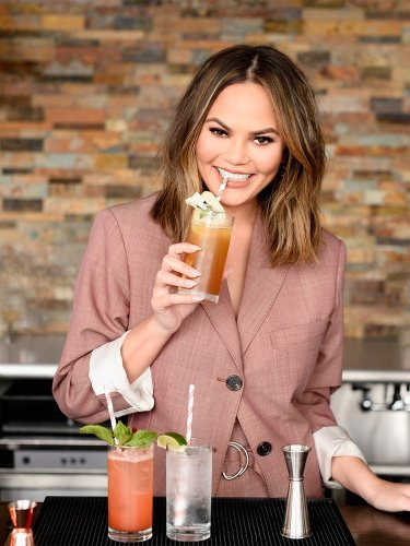 Chrissy Teigen's Kitchen Cabinets Feature This Budget-Friendly Style
