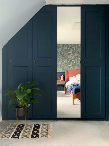 This Designer Transformed an Awkward Nook Into a Custom Closet