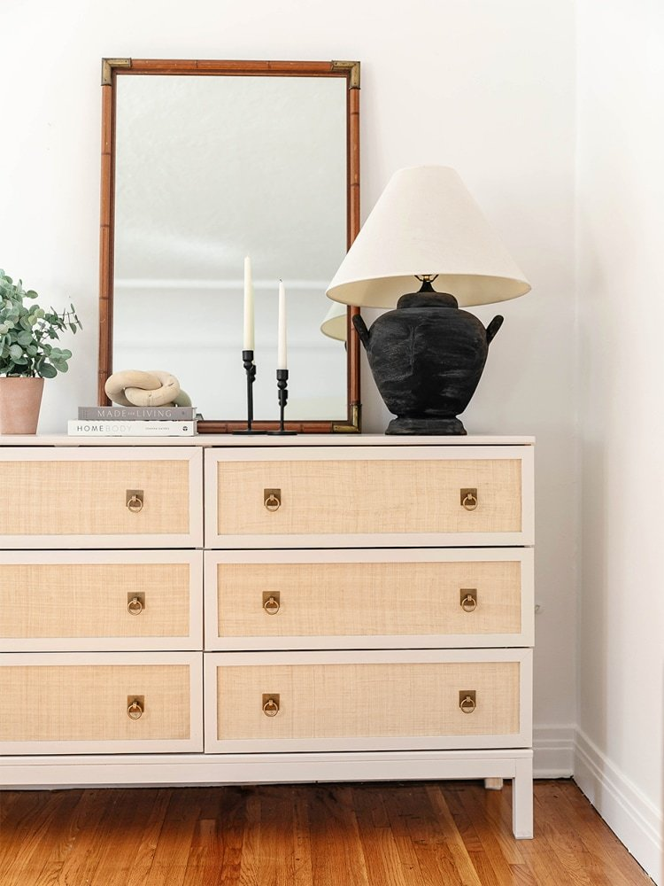 This $200 IKEA Hack Is Almost Identical to This $4K Woven Raffia Dresser