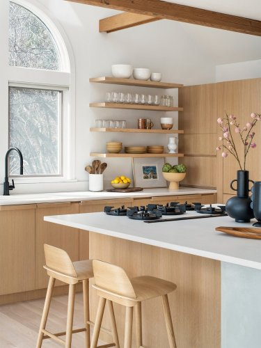 An Upstate New York Kitchen Once Worthy of the '80s Is Now a Japandi Dream