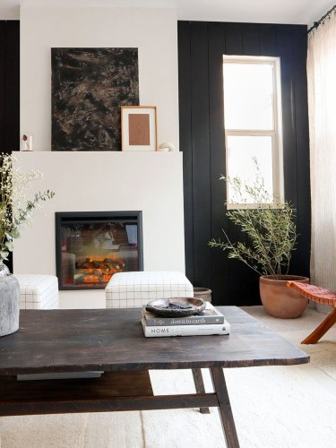 This DIYer Always Dreamed of a Fireplace—So She Built One