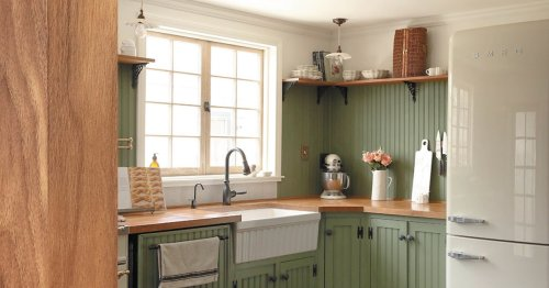 This L.A. Couple Flipped Their Builder-Grade Kitchen to Look Like It's 1928 Again