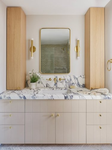 This Bathroom Vanity Design Will Clear the Clutter Off Your Countertop for Good