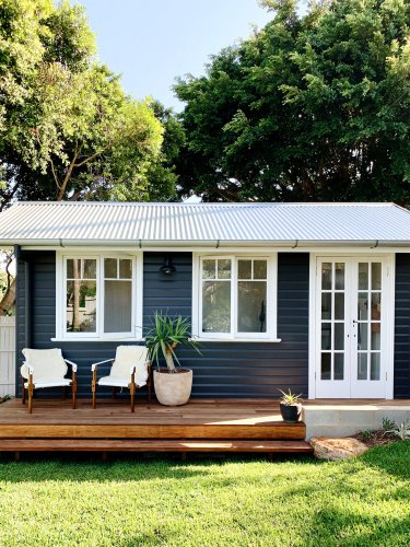 Courtney Adamo Made a Backyard Shed the Hardest-Working Space in Her Home