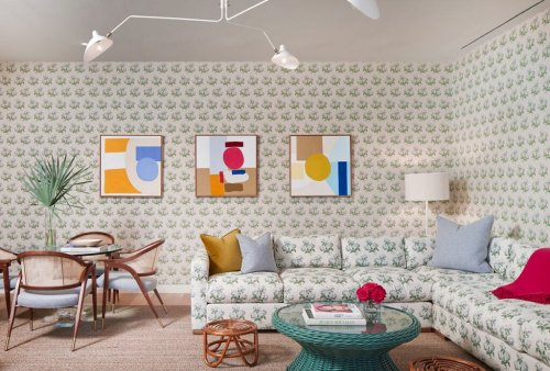 Matching Your Sofa Fabric to Your Walls Isn't Just for Maximalists