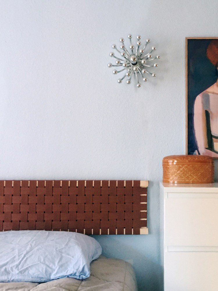 An Under-$50 Headboard Hack Inspired by an Iconic Finnish Chair