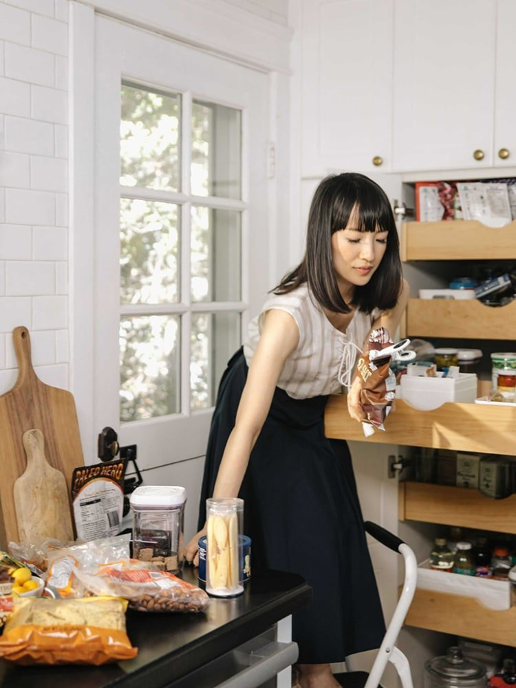 How Marie Kondo Does Pantry Organization in Her Own Home