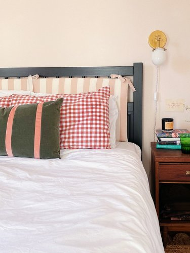 Adultify Your College-Era IKEA Bed Frame With This Headboard Hack