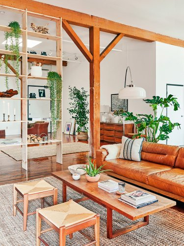 The DIY Bookshelf in This Stylist's L.A. Loft Doubles as a Seriously Cool Room Divider