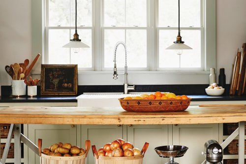 Beaded Doors and Hidden Drawers Elevate These Farmhouse Kitchen Islands