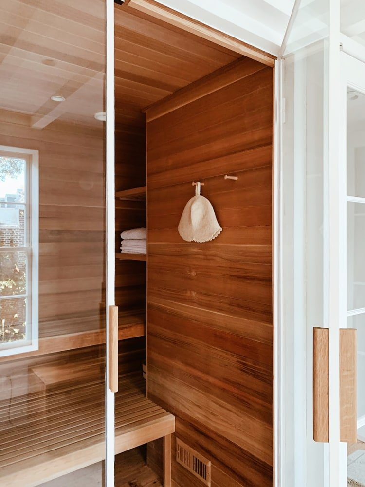 All You Need Is 30 Square Feet to Put a Sauna Right Next to Your Shower