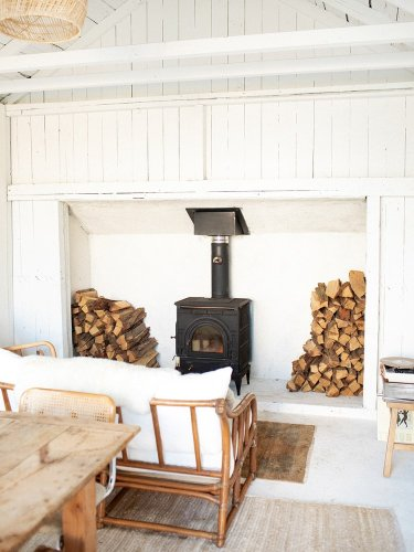 $10K Later, This Reimagined Garage Is Fit for Nights by the Fire
