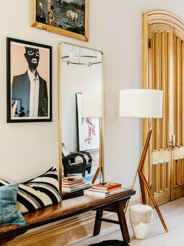 How a Pro Integrated Modern Pieces Into Adrian Grenier's 1860s Brownstone