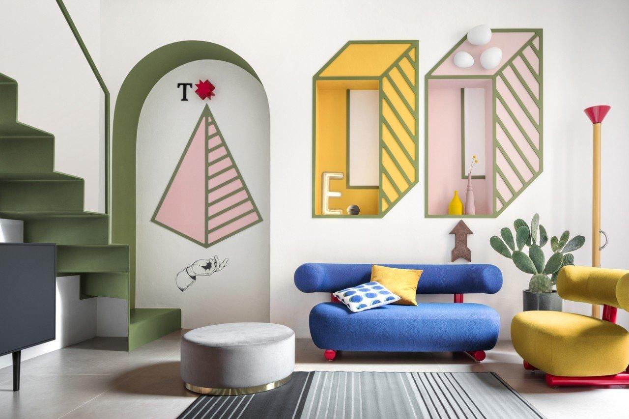 Una stanza di 15 mq a Milano è un omaggio a Ettore Sottsass
