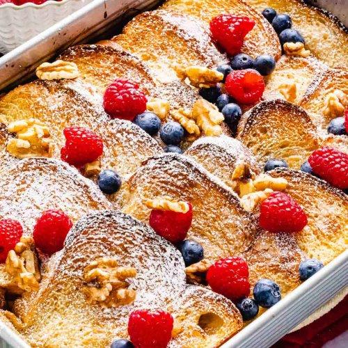 Baked French Toast Casserole - Make Ahead Recipe