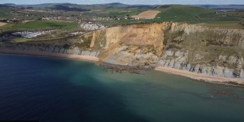 Drones show extent of the biggest British rockfall in 60 years