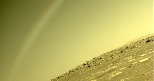 Mars rainbow turns out not to be a rainbow after all