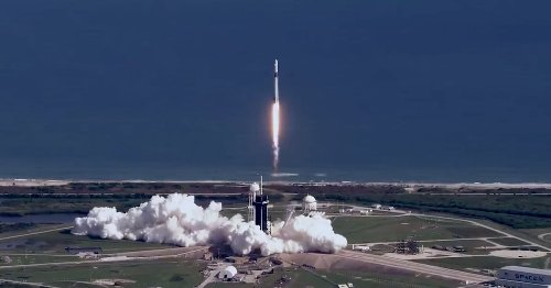 Cool footage shot from a helicopter shows SpaceX's latest rocket launch