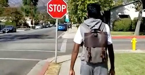 Like a wearable guide dog, this backback helps Blind people navigate