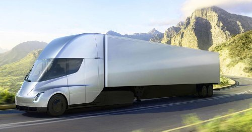 Watch Tesla's all-electric Semi hum around a test track