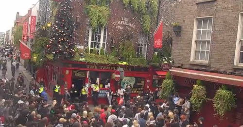 LIVE: Mob storm Temple Bar as large protest takes place