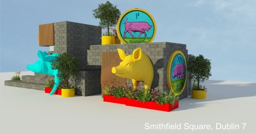 A large pig and other art installations will transform Smithfield Square
