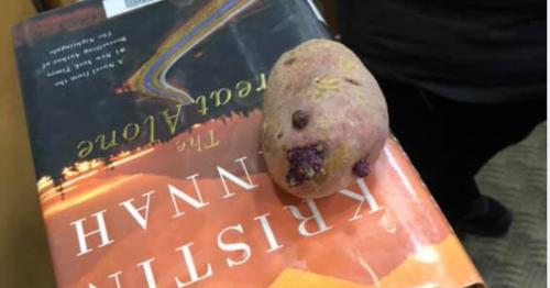 Dublin library discover crazy reader used potato as a bookmark