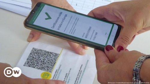 """Kein Geld ohne """"Grünen Pass"""" in Italien"""