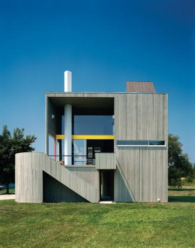 Articles about modernist angular residence vertical cedar siding on Dwell.com