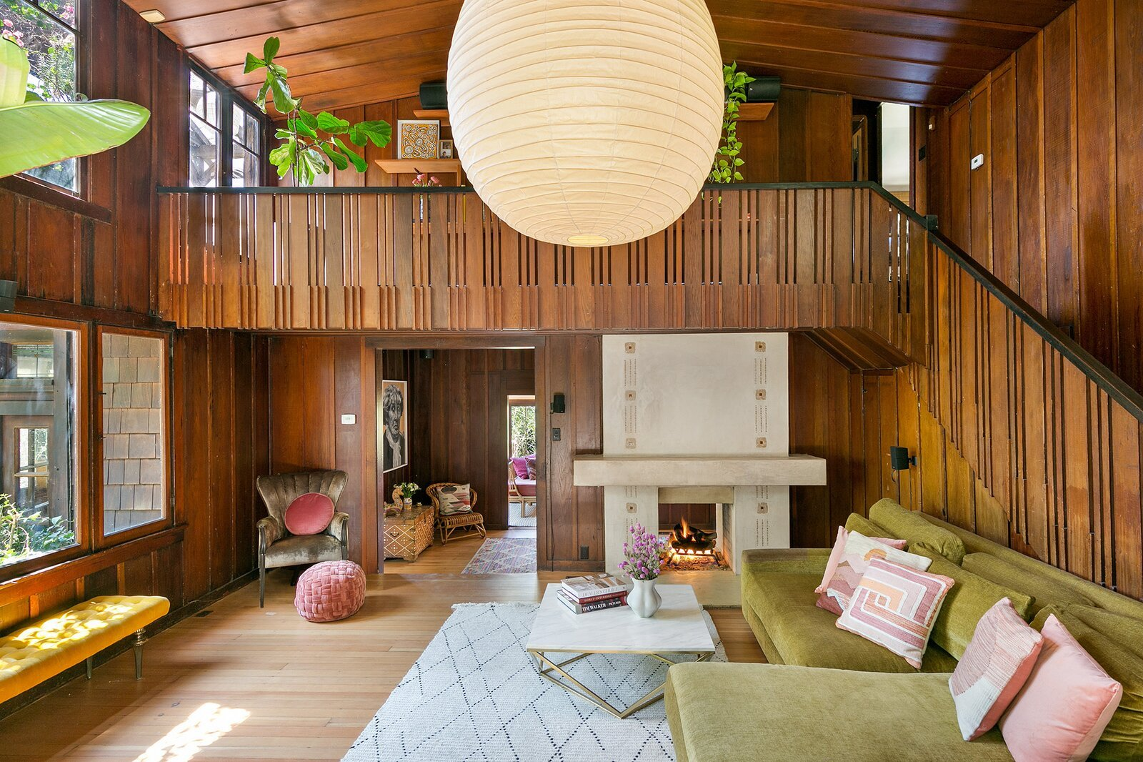 A Frank Lloyd Wright–Inspired Craftsman in Los Angeles Asks $2.4M