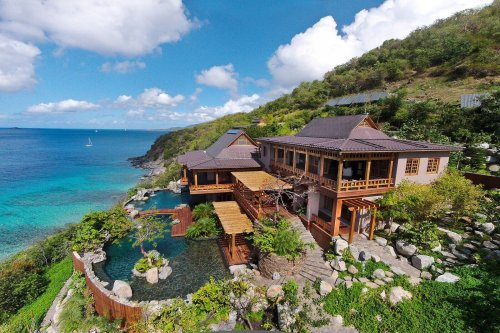 A Japanese-Inspired Villa Hits the Market on the British Virgin Islands