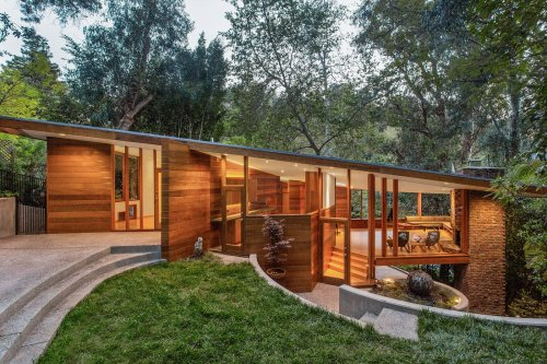 Photo 1 of 15 in An Impeccably Restored John Lautner Home Seeks $2.5M…