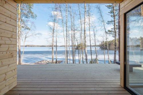 Prefab Log Cabin Sauna by Pluspuu
