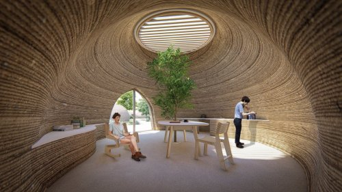 TECLA 3D-Printed Affordable House by WASP and Mario Cucinella Architects