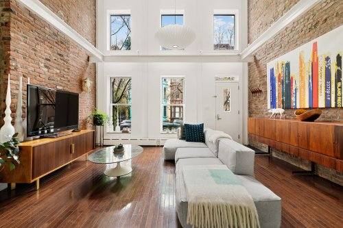 A Luminous Brooklyn Townhouse With Double-Height Ceilings Seeks $3.3M
