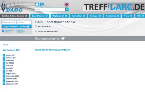 DARC Contest Calendar
