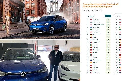 """Montag Kompakt: Sandy Munros Verdikt zum ID.4, EV Readiness Index 2021, Professor hält Elektromobilität für die """"ineffizienteste Form der Klimapolitik"""" - e-engine - Alles rund um E-Mobilität"""