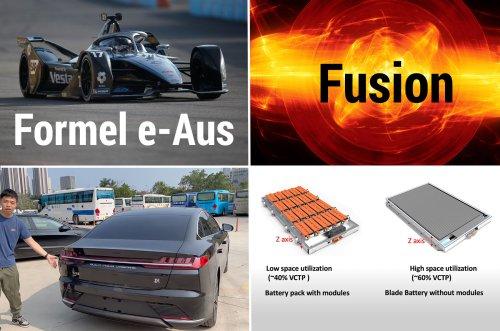Donnerstag Magazin: BYDs Blade-Batterie, die Zulieferindustrie und der kleine Tesla. Autonomer Bus in Shanghai. Auch Daimler steigt aus Formel E aus. Fusion wird durch neue Lasertechnik einfacher. - e-engine - Alles rund um E-Mobilität