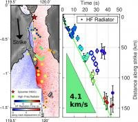 Earthquake with magnitude 7.5 in Indonesia: An unusual and steady speed