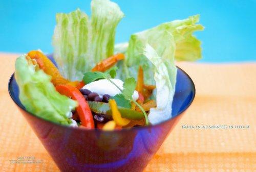 Fajita Salad Wrapped In Lettuce | Eat More Art