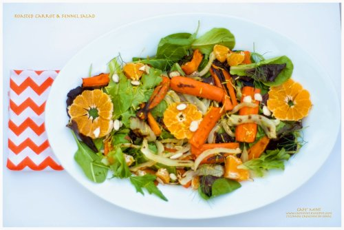 Roasted Carrots & Fennel Salad | Eat More Art