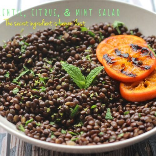 Black Lentil, Citrus, & Mint Salad