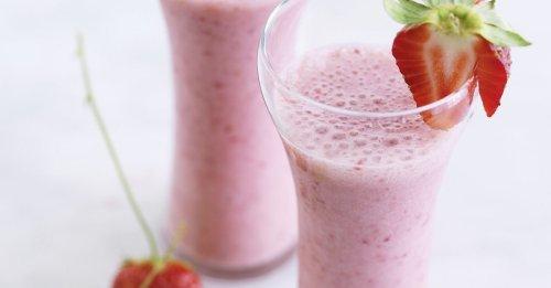 Veganer Erdbeer-Milchshake