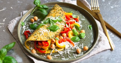 Paprika-Omelette mit Kräutern