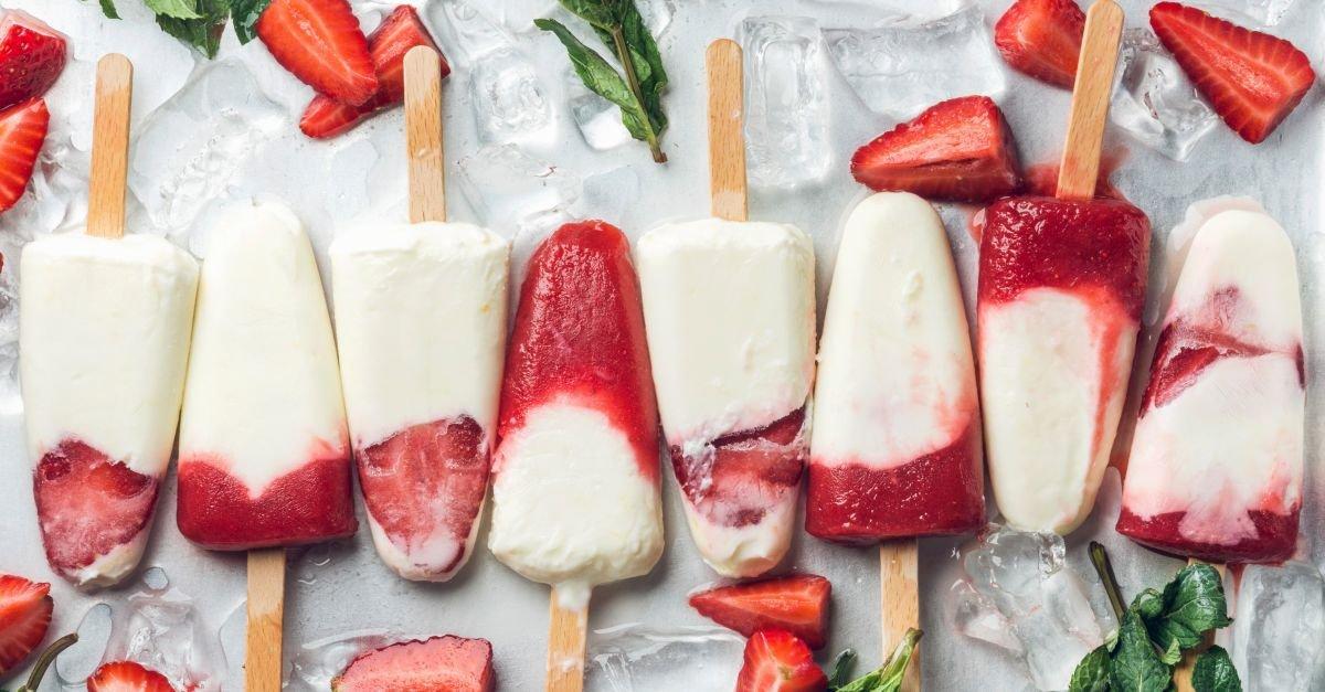 Erdbeer-Joghurt-Eis