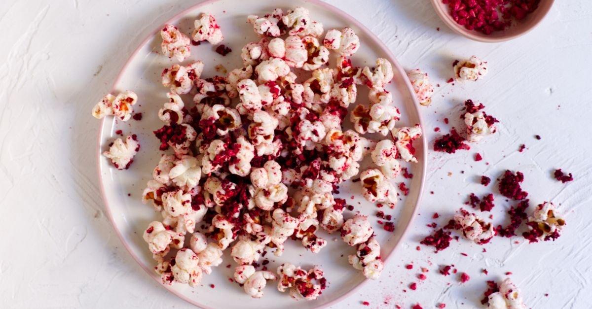 Himbeer-Limetten-Popcorn