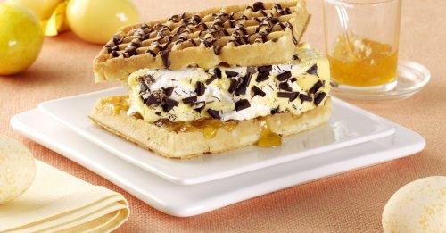 Waffel-Burger mit Eierlikör-Vanille-Eis