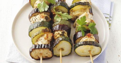 Hähnchen-Zucchini-Spieße
