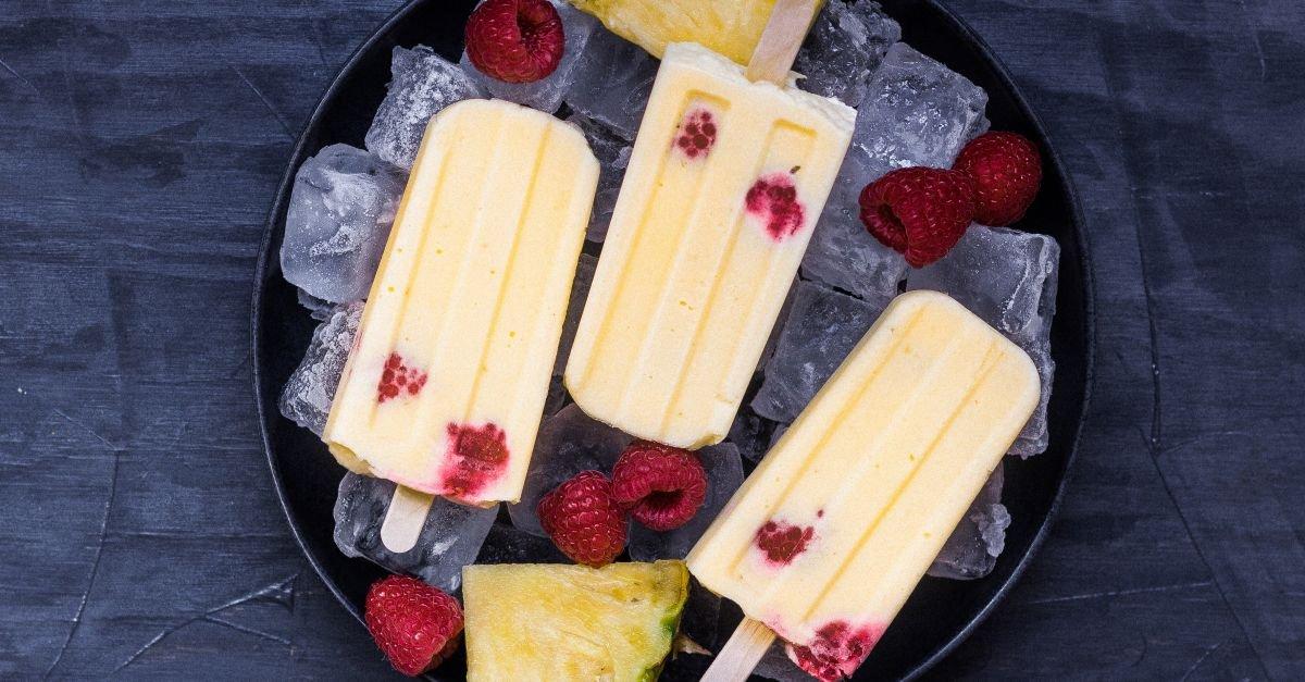 Ananas-Popsicles