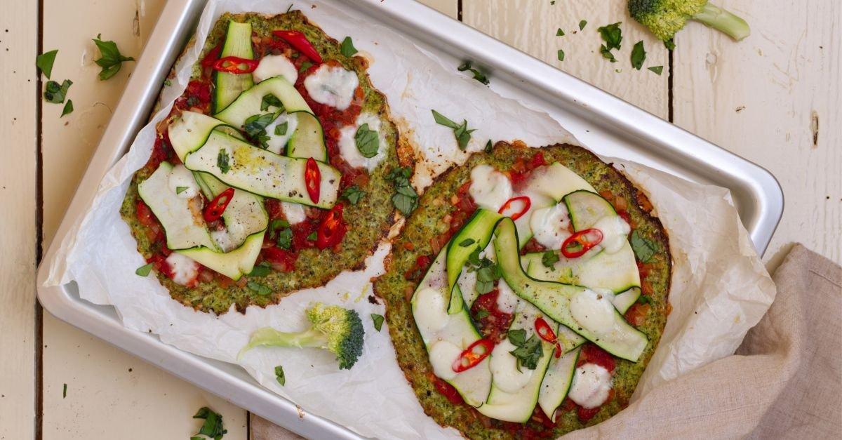 Keto-Brokkoli-Pizzafladen